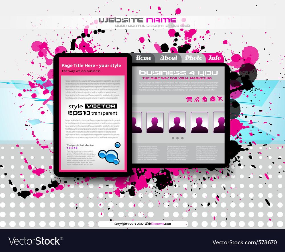 Hitech business website vector | Price: 1 Credit (USD $1)