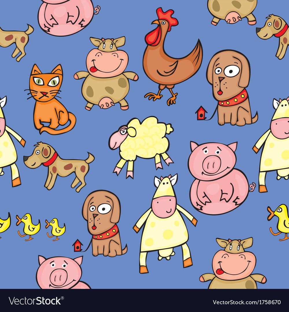 Seamless animals vector | Price: 1 Credit (USD $1)