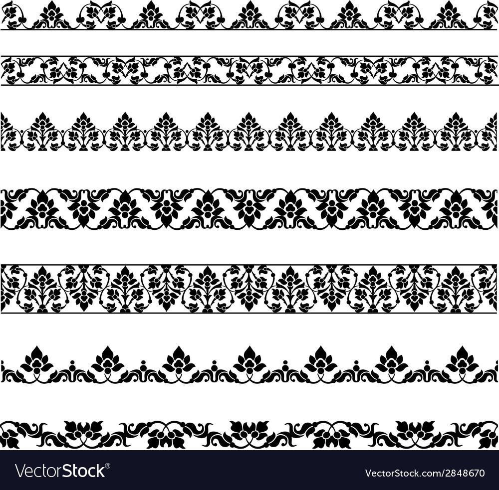 Set borders vector | Price: 1 Credit (USD $1)