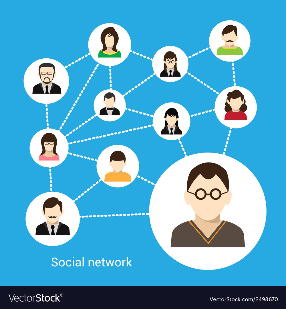 Social network concept vector | Price: 1 Credit (USD $1)