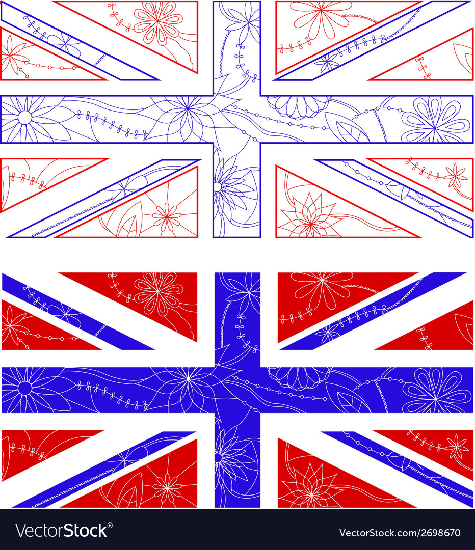 Uk flags vector | Price: 1 Credit (USD $1)