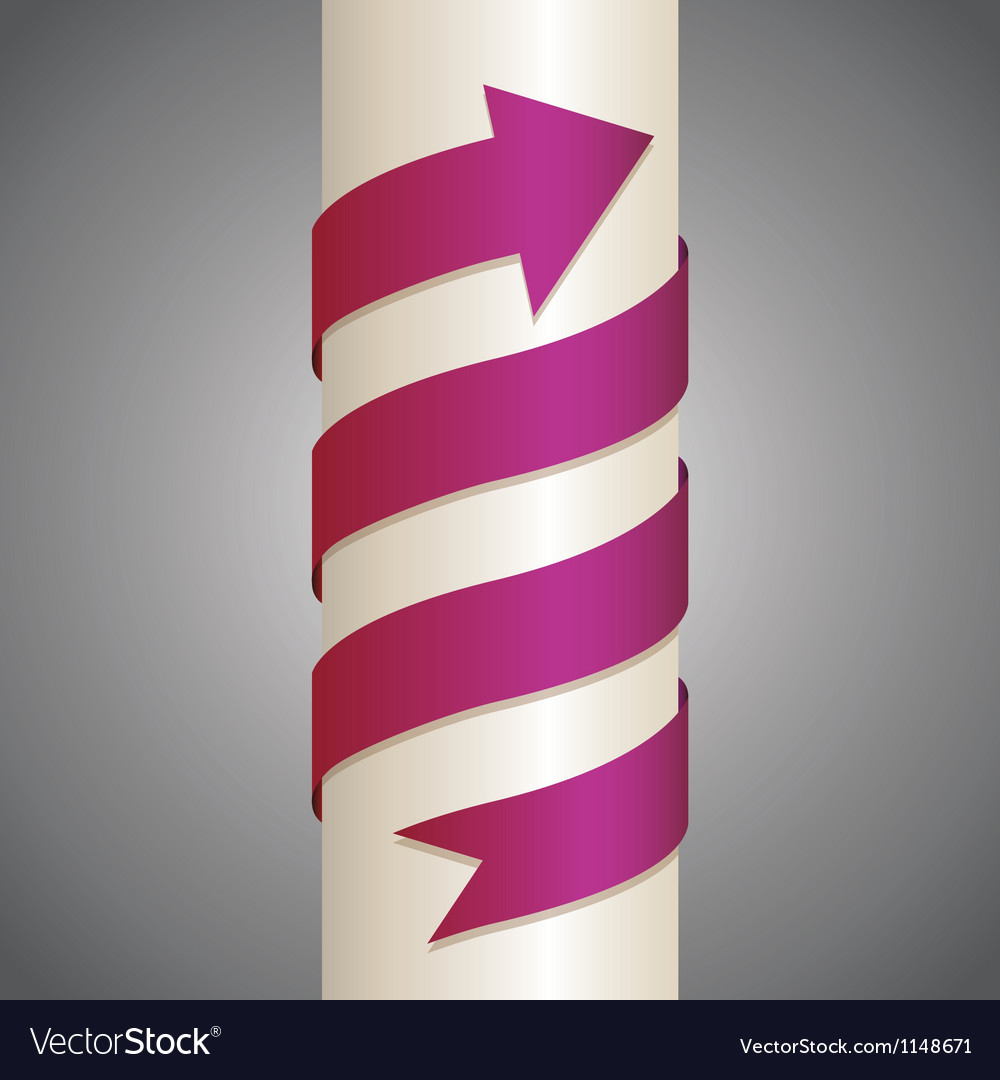 Arrow on pillar vector | Price: 1 Credit (USD $1)