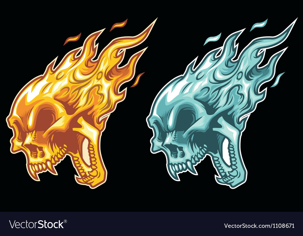 Burning skull vector | Price: 1 Credit (USD $1)