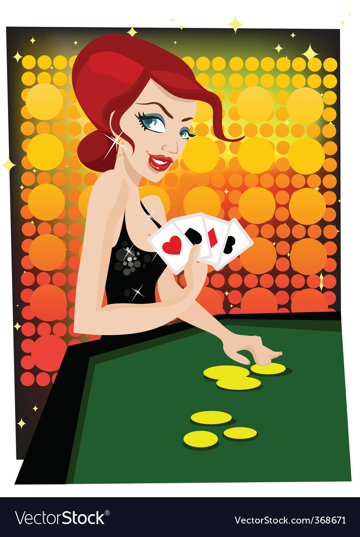Casino girl vector | Price: 3 Credit (USD $3)