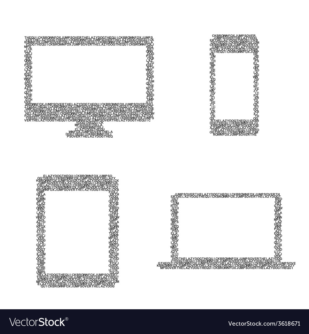 Composed symbols of electronic device vector | Price: 1 Credit (USD $1)