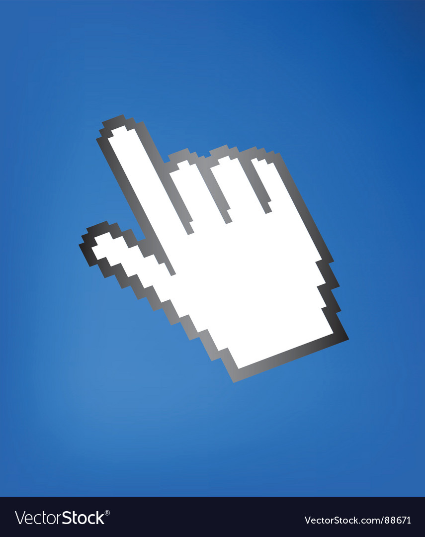 Computer hand cursor vector | Price: 1 Credit (USD $1)