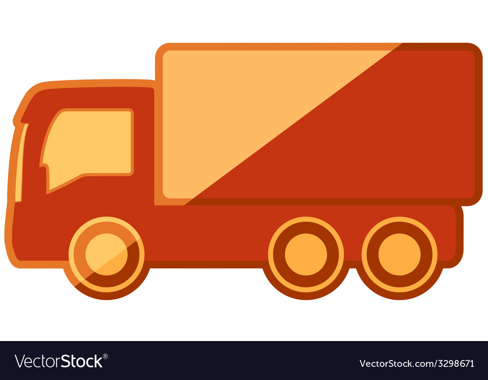 Isolated truck on flat design vector | Price: 1 Credit (USD $1)