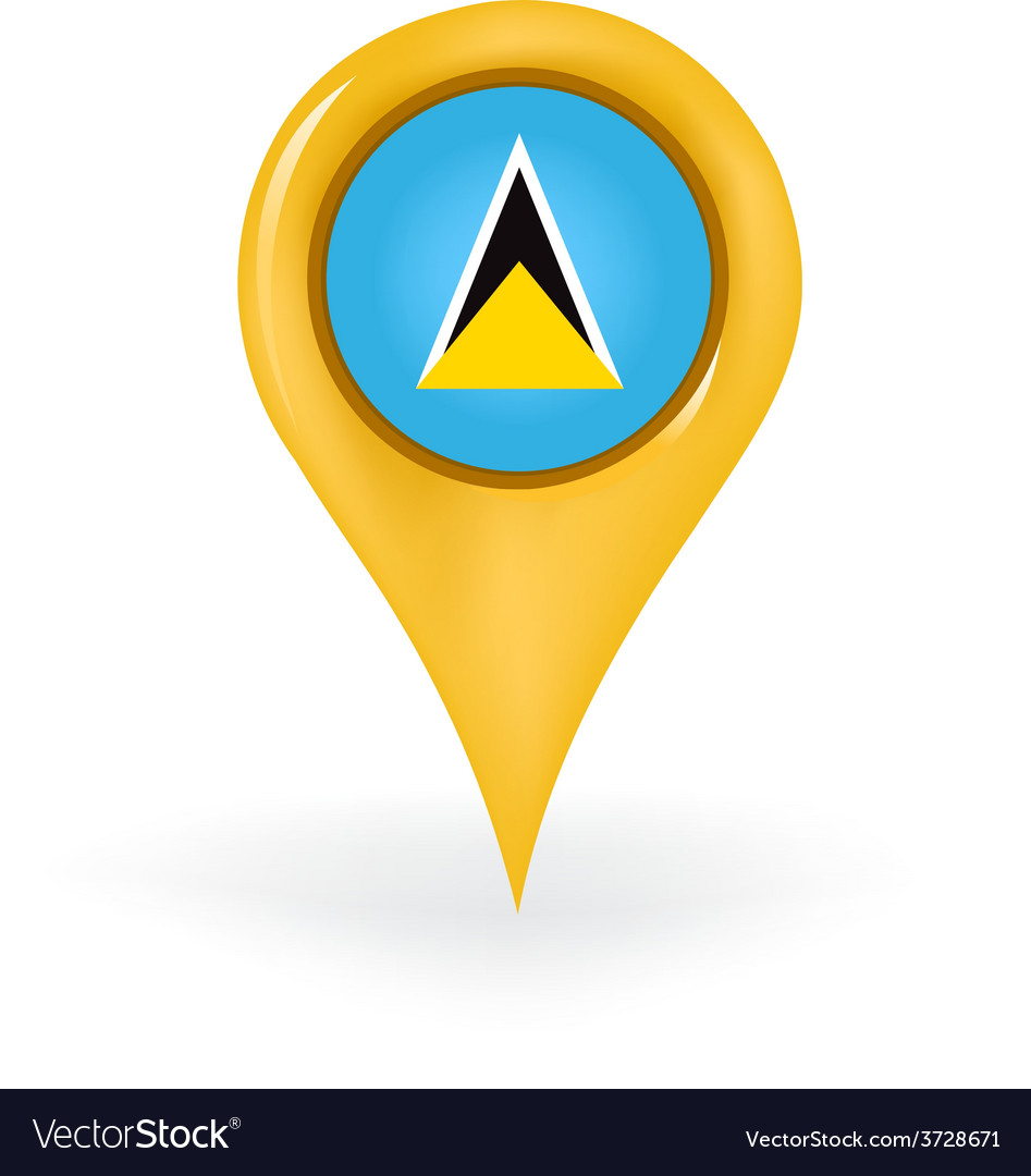 Location saint lucia vector | Price: 1 Credit (USD $1)