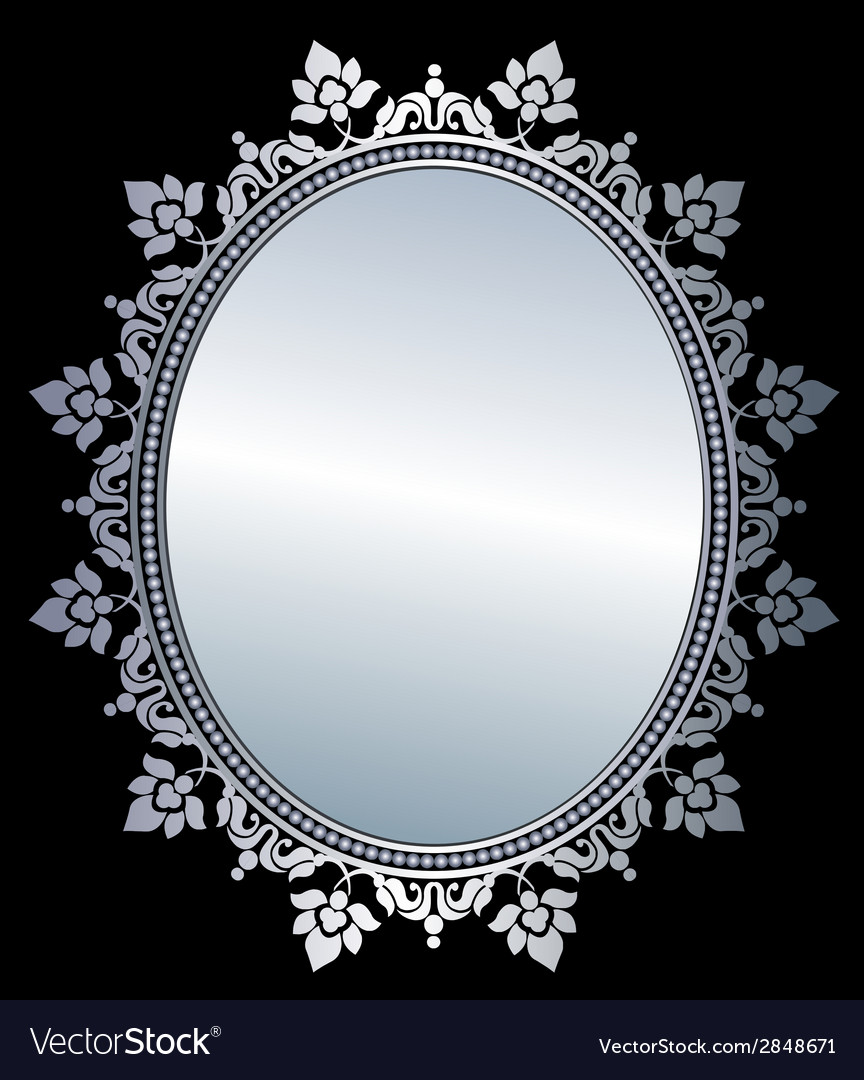 Mirror in frame vector | Price: 1 Credit (USD $1)