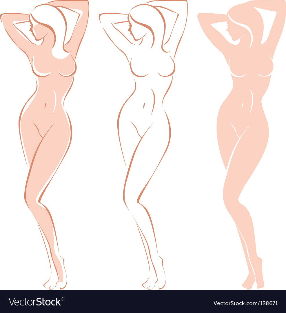 Woman's silhouette vector | Price: 1 Credit (USD $1)