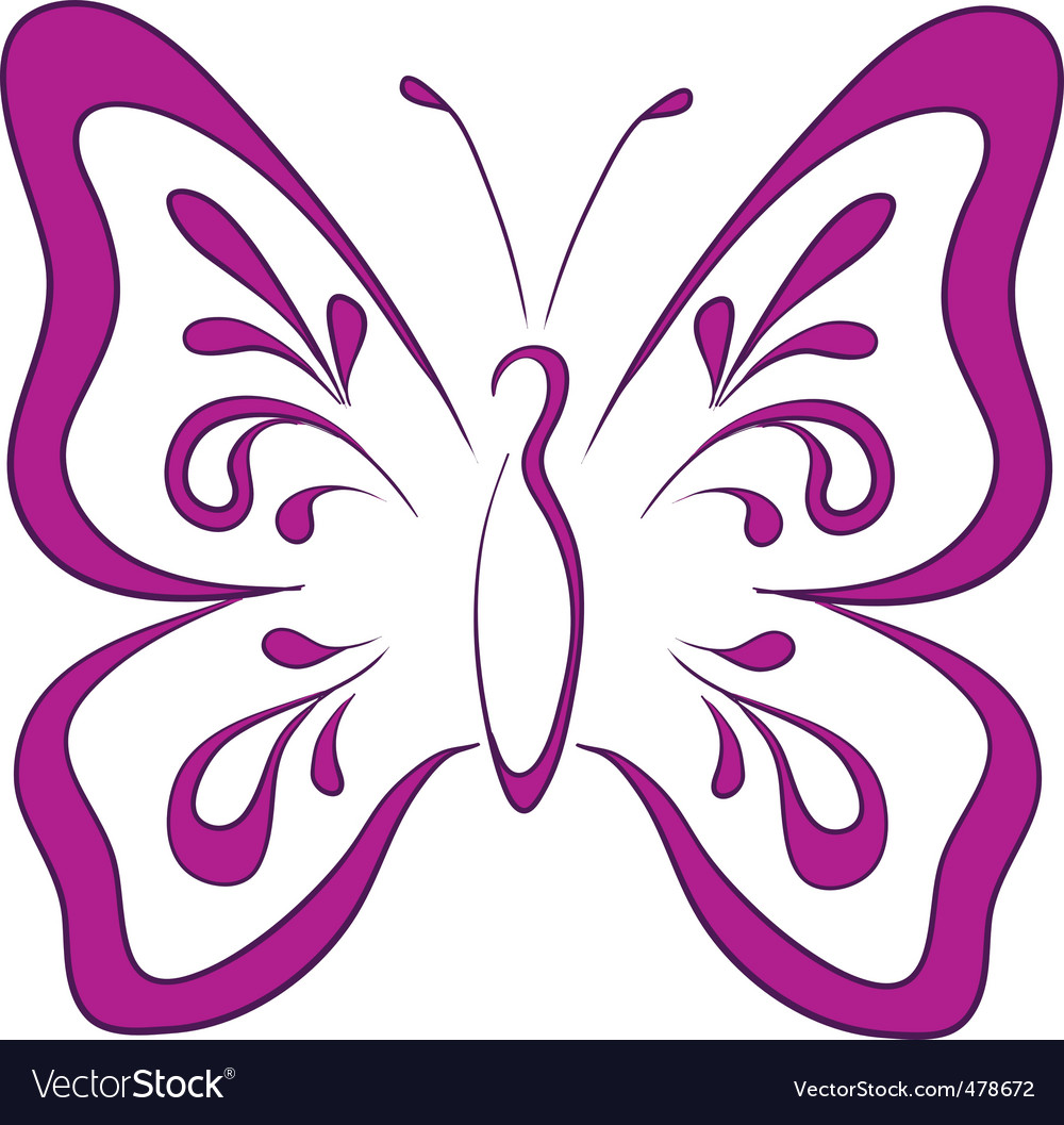 Butterfly pictogram vector | Price: 1 Credit (USD $1)