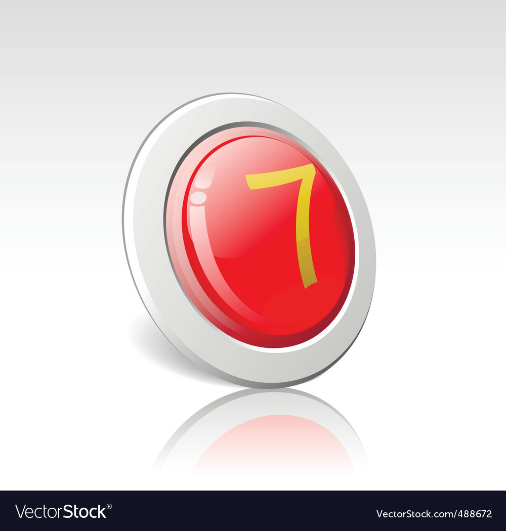 Button with the number 7 vector | Price: 1 Credit (USD $1)