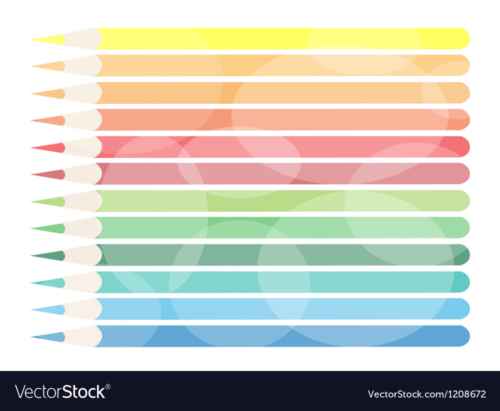 Colorful colored pencils background vector | Price: 1 Credit (USD $1)