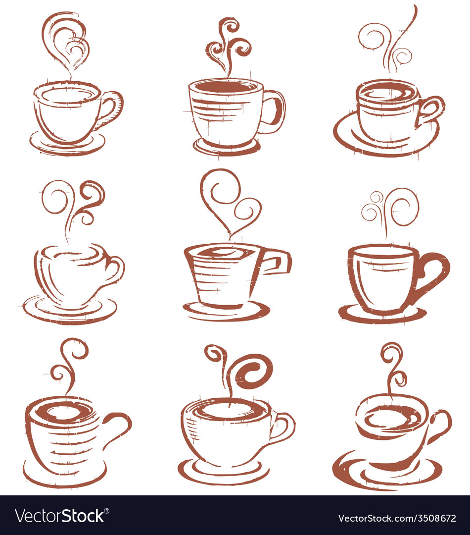 Doodle coffee cup vector   Price: 1 Credit (USD $1)