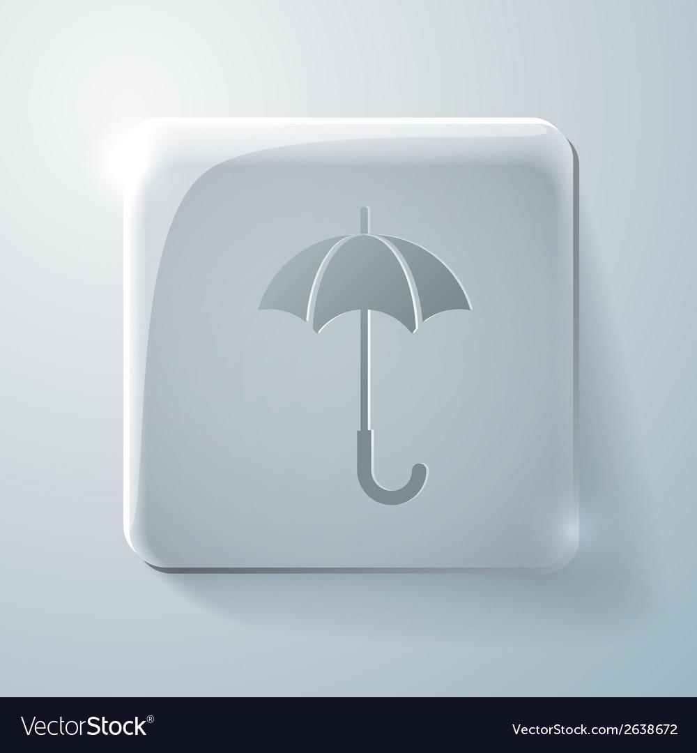 Glass square icon umbrella vector   Price: 1 Credit (USD $1)