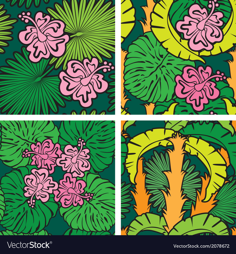 Palm flower seaml 380 vector | Price: 1 Credit (USD $1)