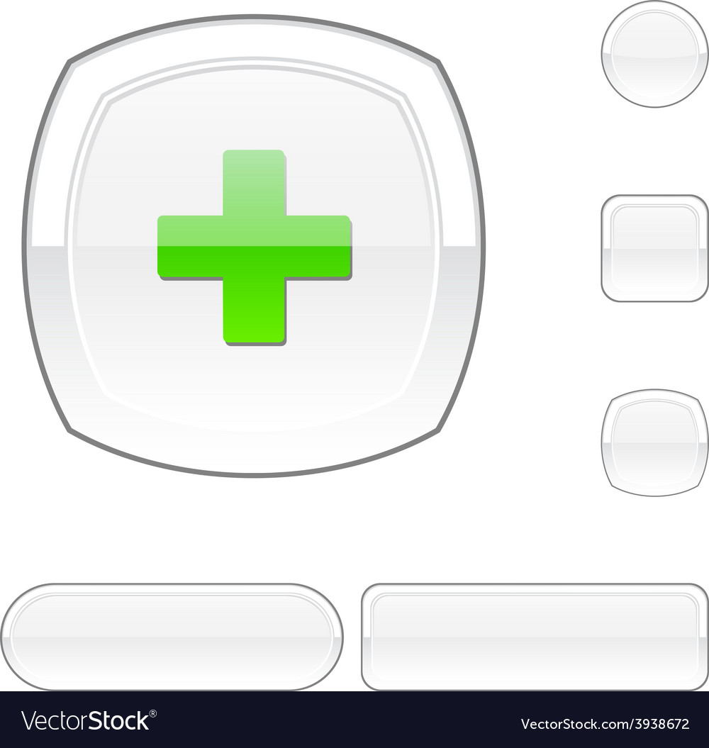 Switzerland white button vector | Price: 1 Credit (USD $1)