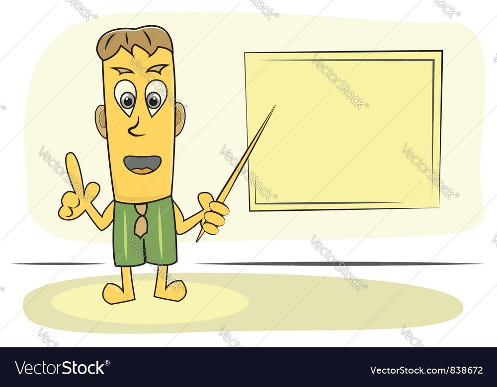 Teacher explain lesson vector | Price: 1 Credit (USD $1)