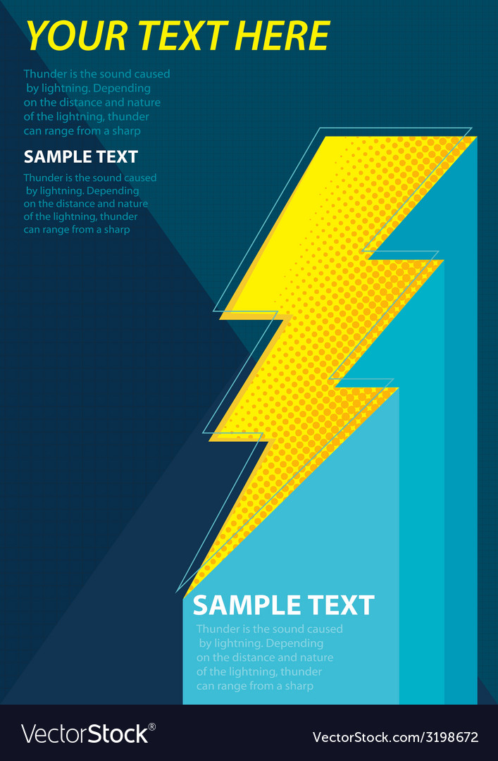 Thunderposter vector | Price: 1 Credit (USD $1)