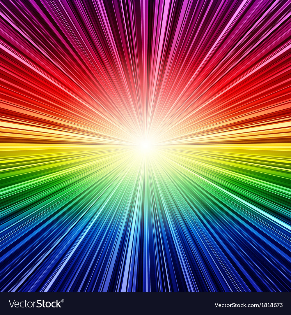 Abstract rainbow stripes burst background vector | Price: 1 Credit (USD $1)