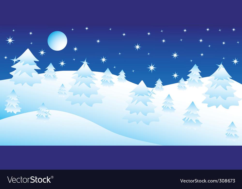 Christmas night vector | Price: 1 Credit (USD $1)