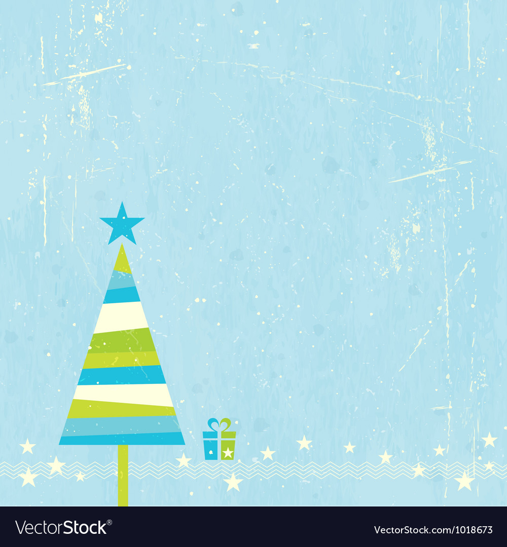 Christmas tree with present vector | Price: 1 Credit (USD $1)