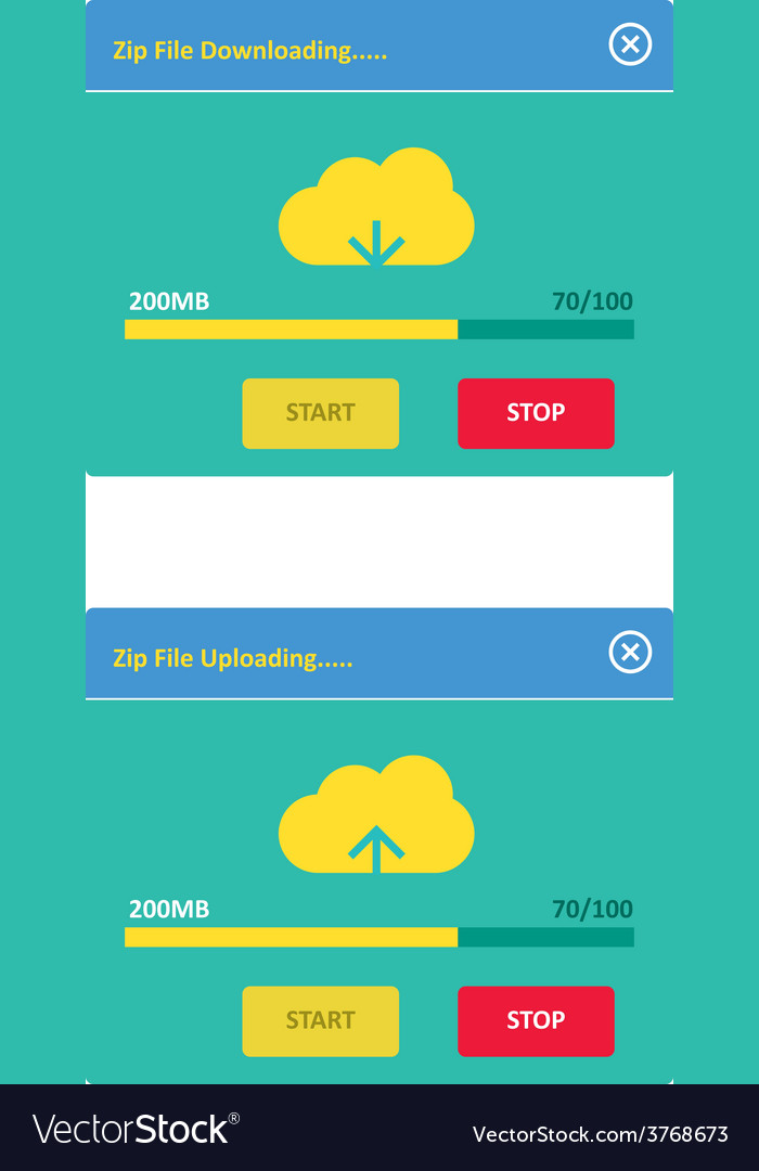 Cloud download and upload 25 vector | Price: 1 Credit (USD $1)