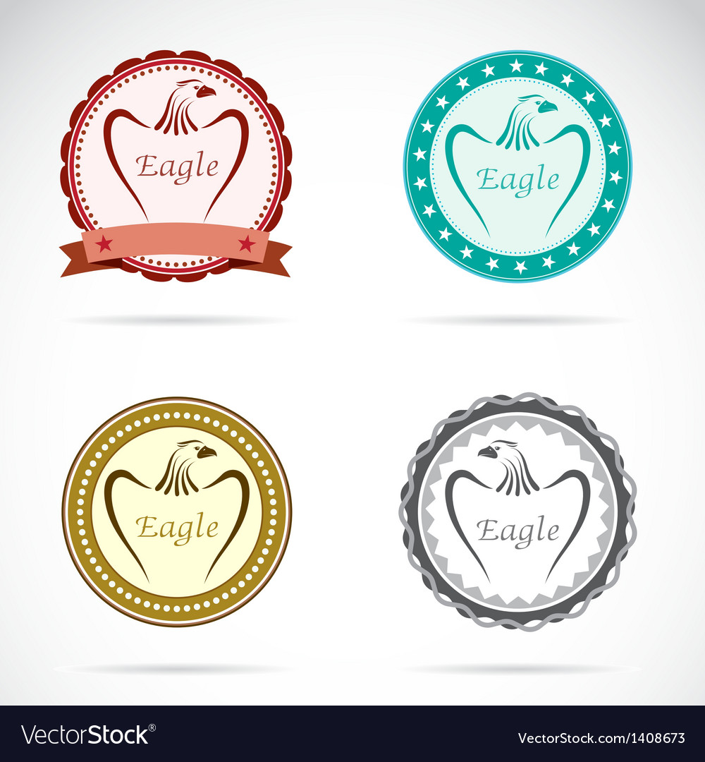 Eagle labels vector | Price: 3 Credit (USD $3)