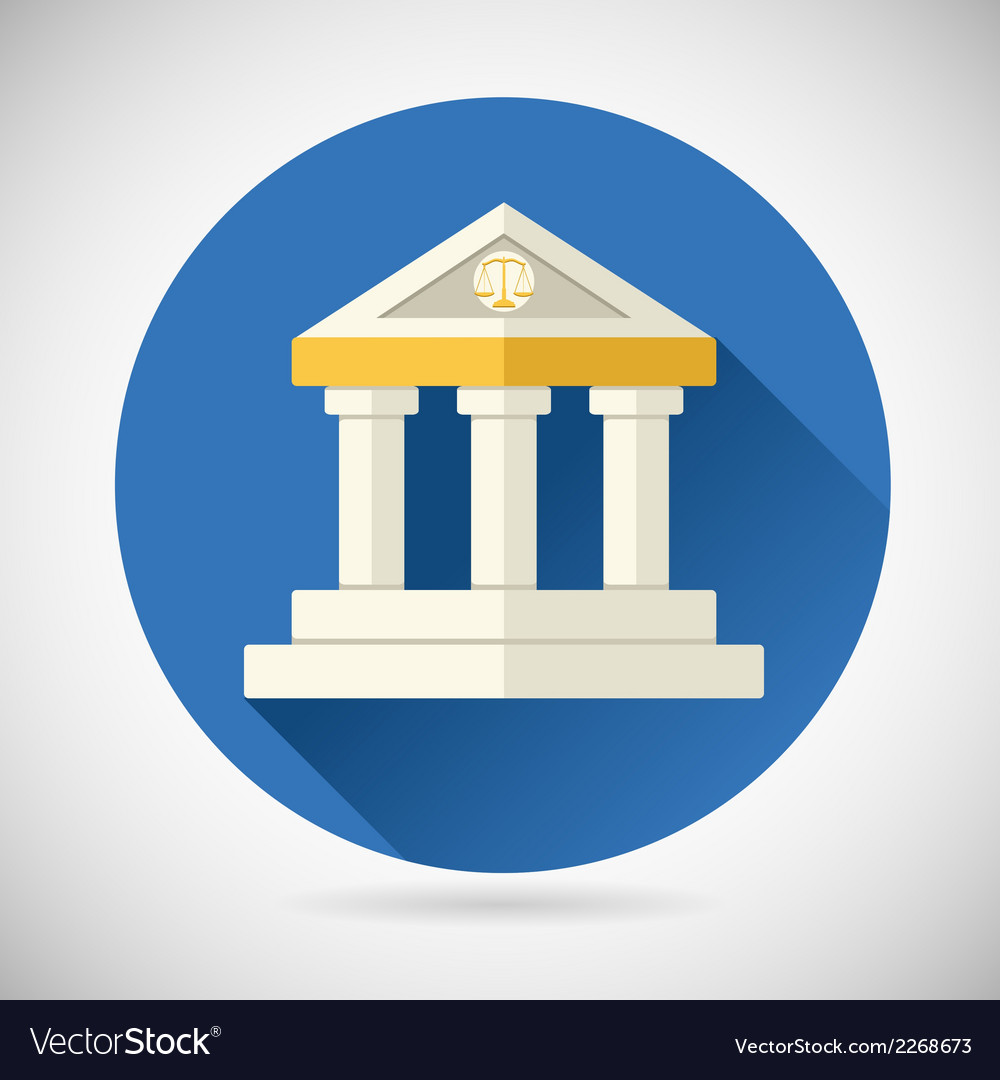 Law court museum bank house symbol justice finance vector | Price: 1 Credit (USD $1)