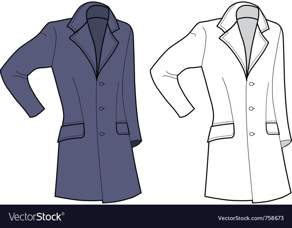 Man coat vector | Price: 1 Credit (USD $1)