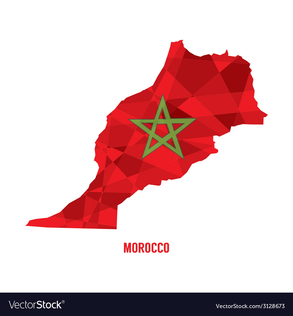 Map of morocco vector | Price: 1 Credit (USD $1)