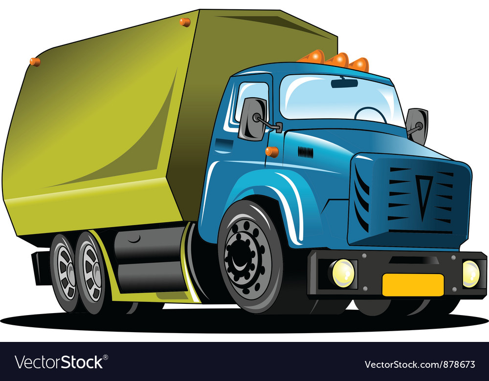 Rubbish truck vector | Price: 1 Credit (USD $1)