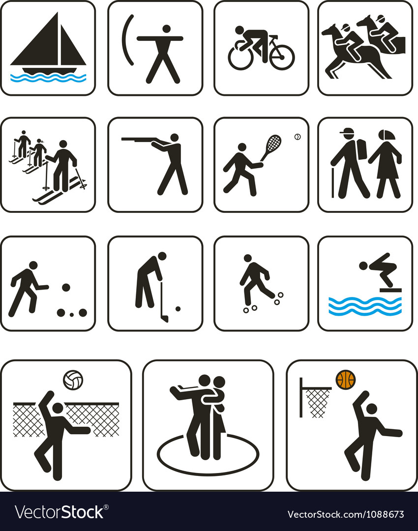 Sports olympic games signs vector | Price: 1 Credit (USD $1)