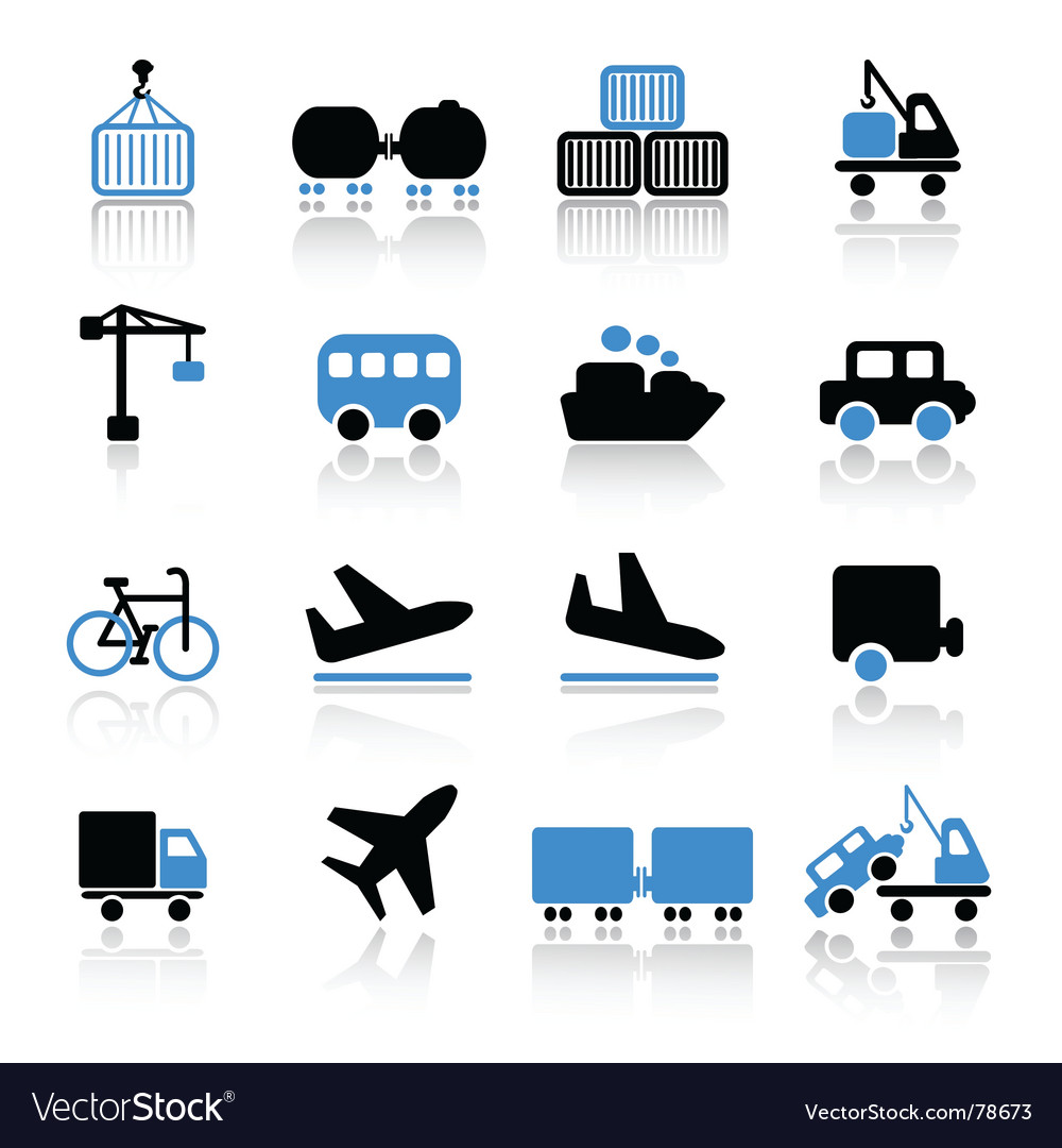 Transport icons vector | Price: 1 Credit (USD $1)