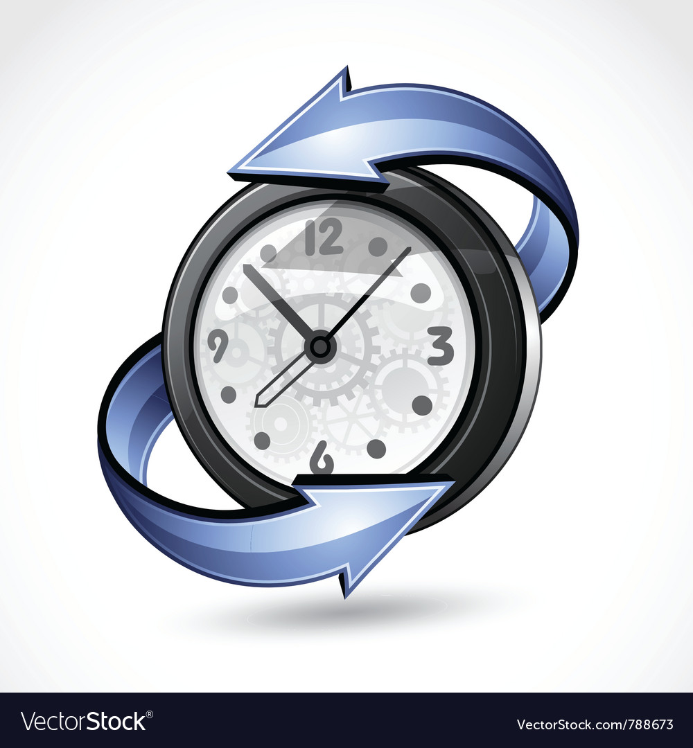 Turning back time vector | Price: 3 Credit (USD $3)