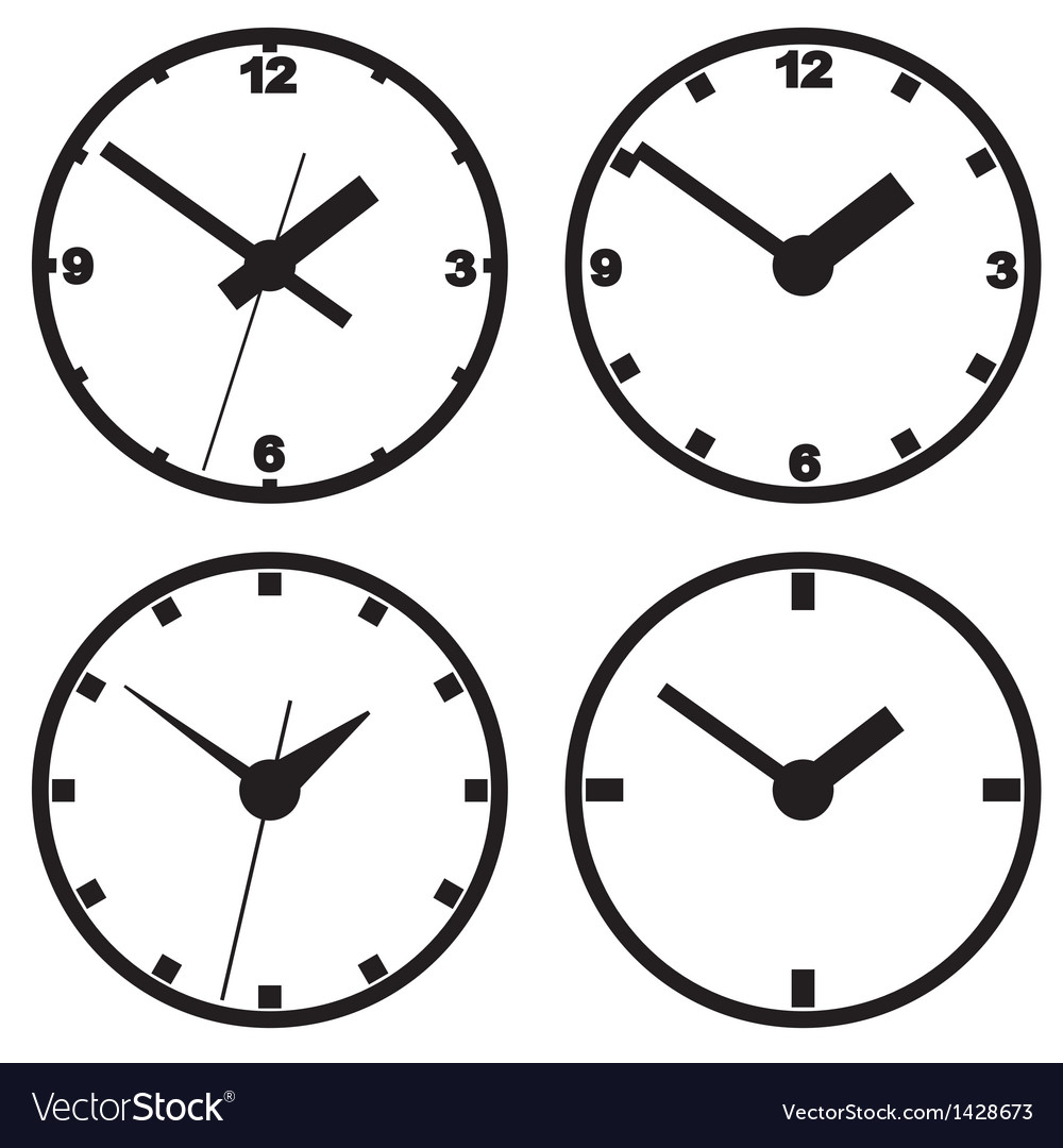 Wall mounted digital clock vector | Price: 1 Credit (USD $1)