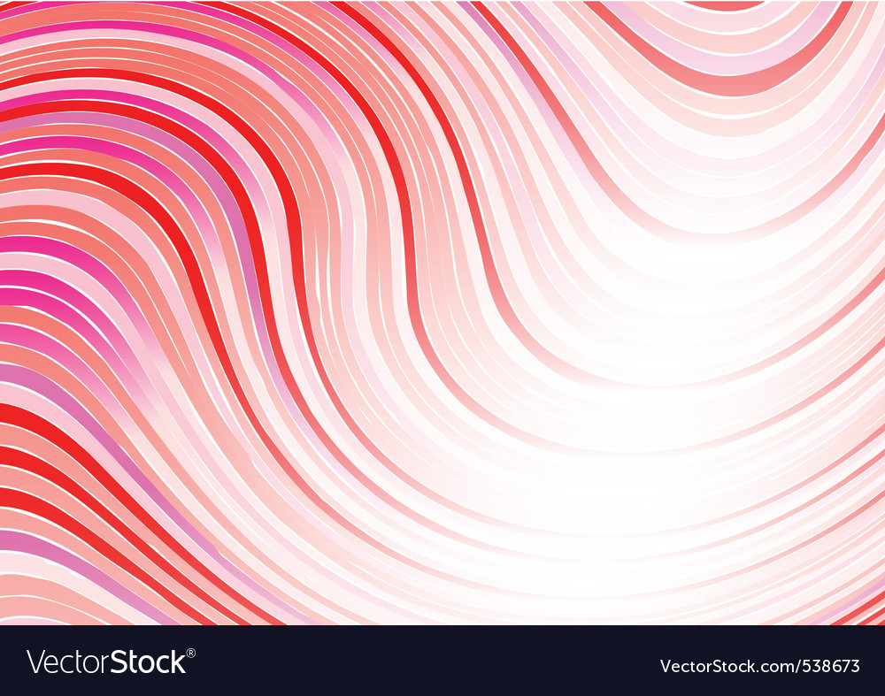 Wavy abstract background in red color vector | Price: 1 Credit (USD $1)