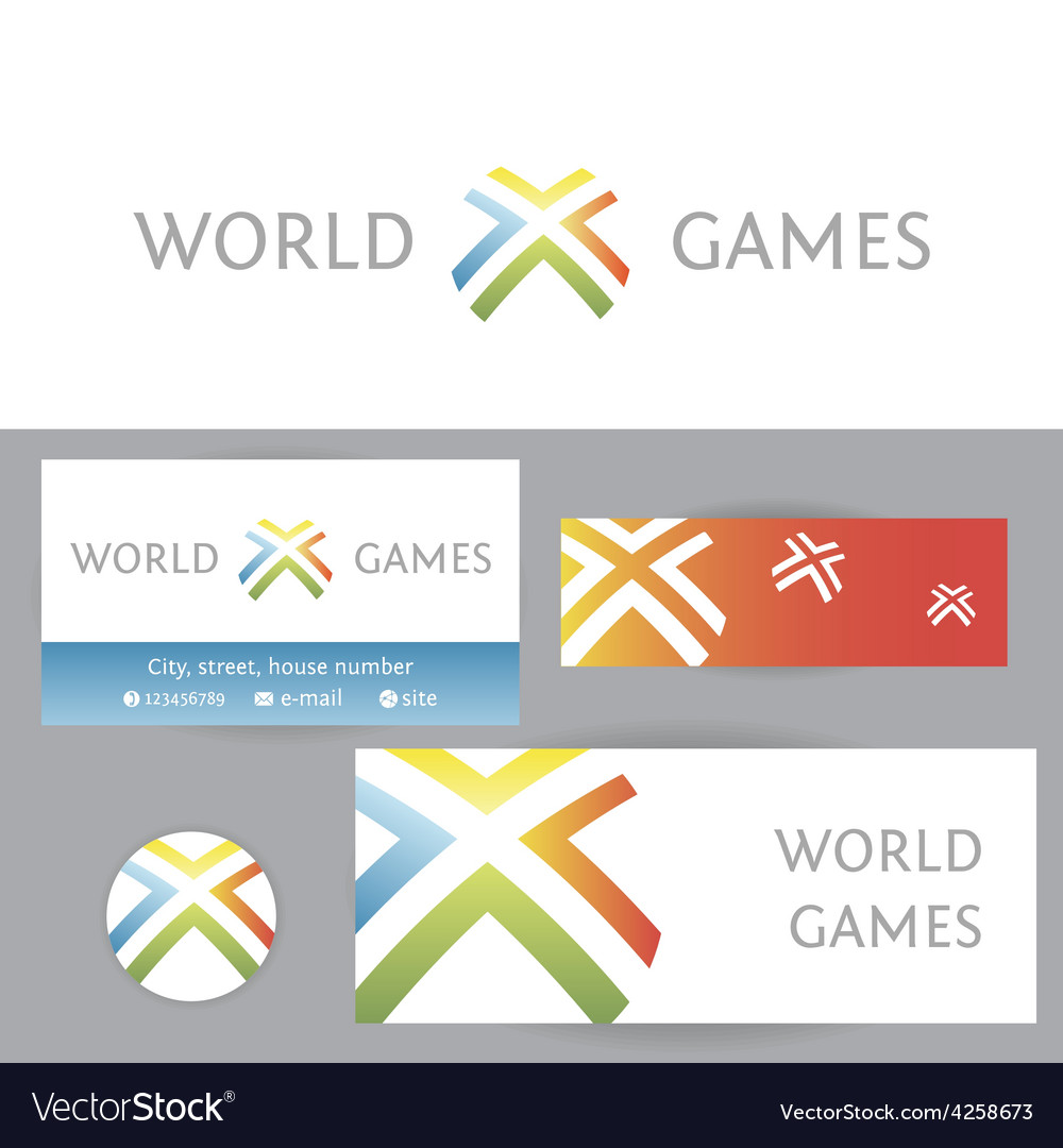 World games template logo and corporate identity vector | Price: 1 Credit (USD $1)