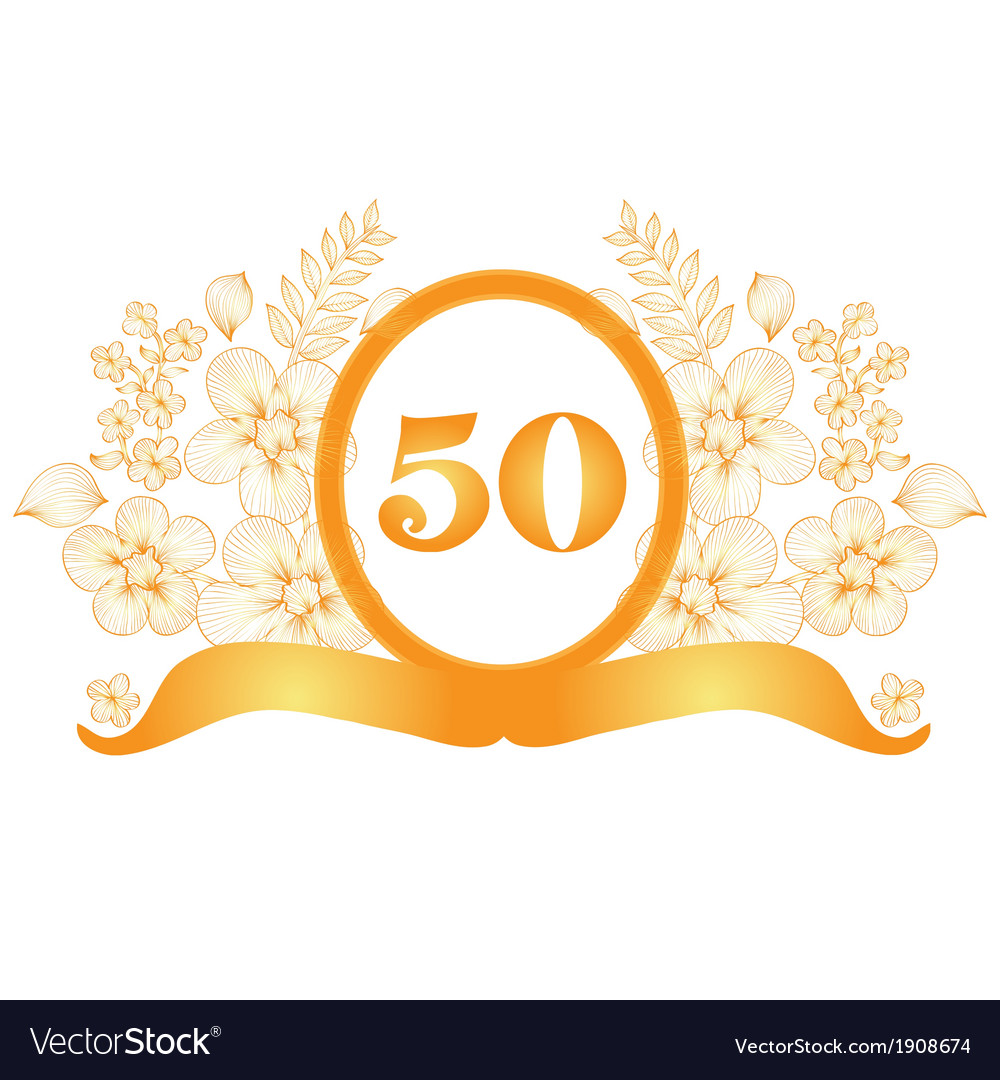 50th anniversary banner vector