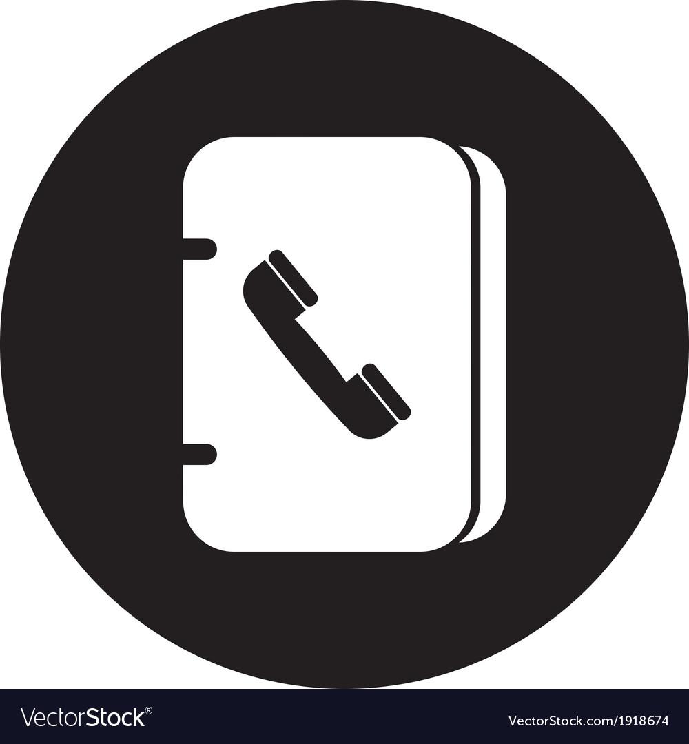 Address book icon vector | Price: 1 Credit (USD $1)