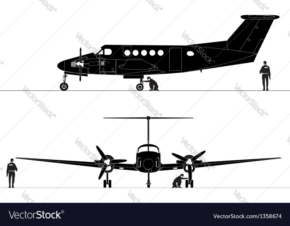 Civil utility aircraft vector | Price: 3 Credit (USD $3)
