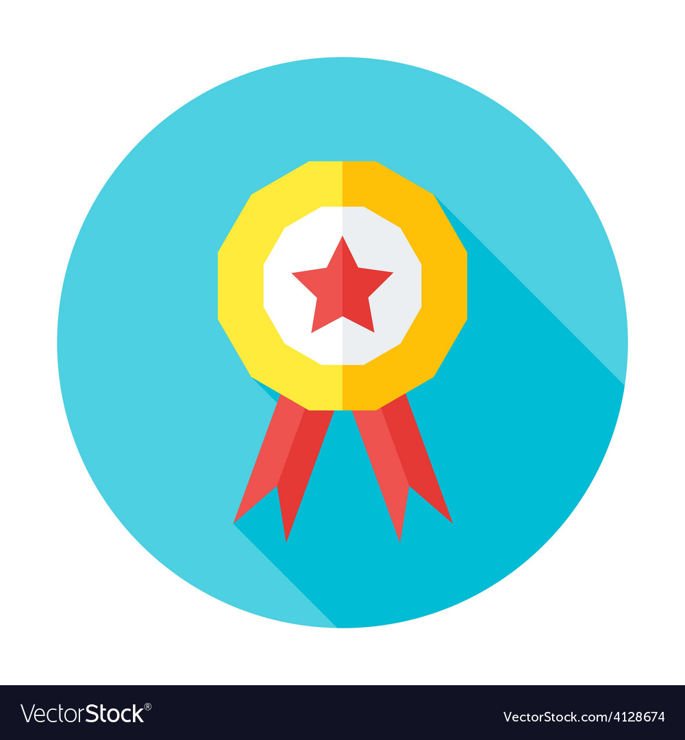 Competition award flat circle icon vector | Price: 1 Credit (USD $1)