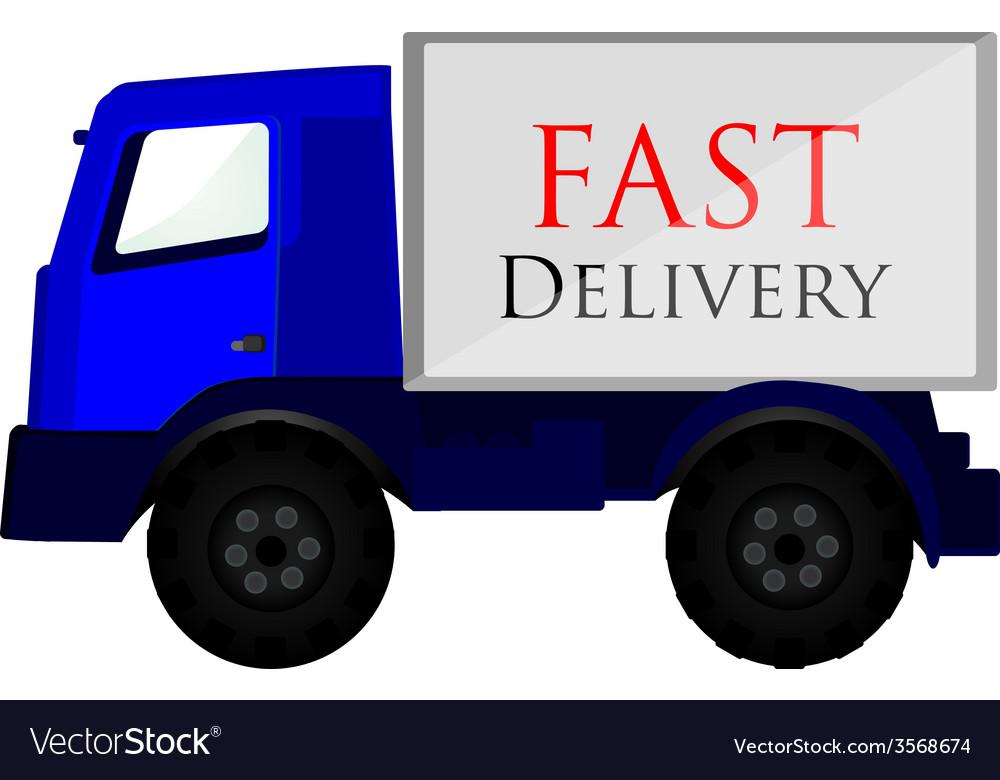 Delivery car blue vector   Price: 1 Credit (USD $1)