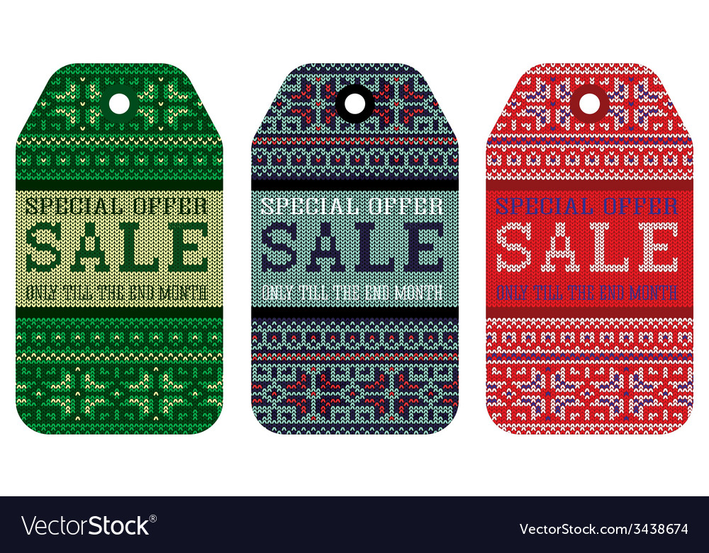 Knitting pattern ornament christmas sale vector   Price: 1 Credit (USD $1)