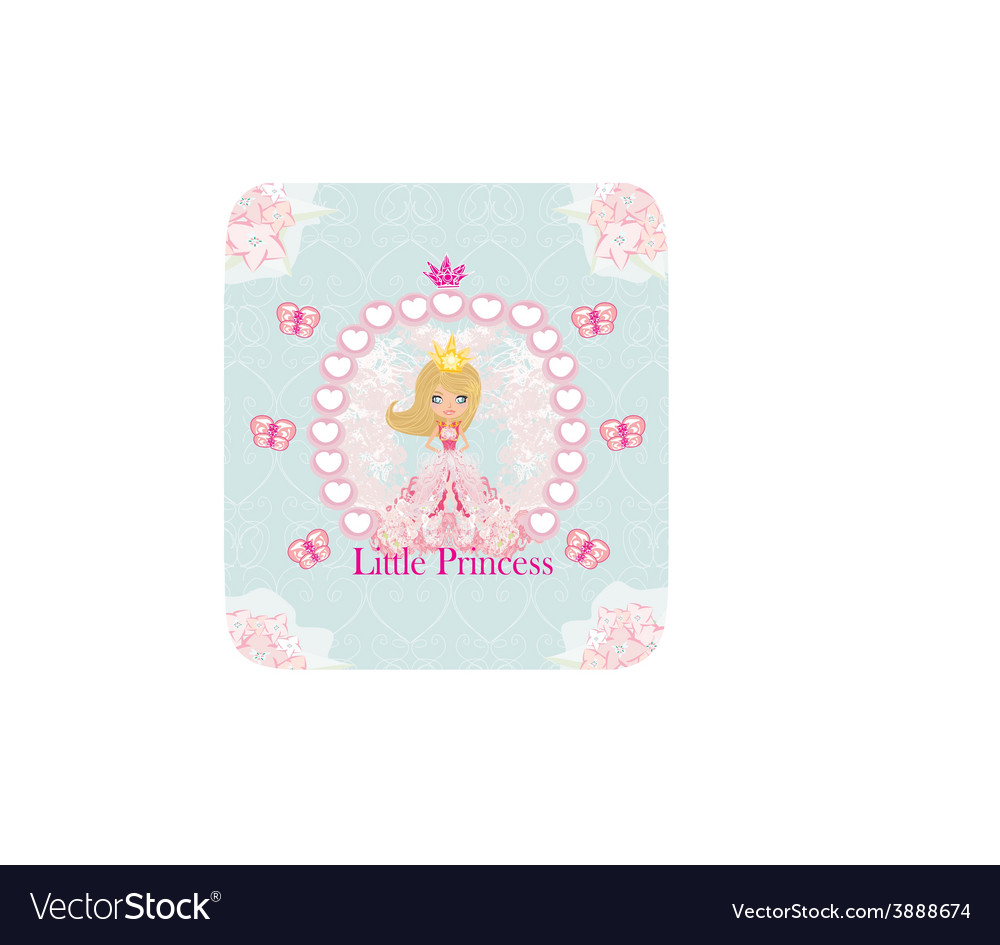 Little princess abstract card vector | Price: 1 Credit (USD $1)