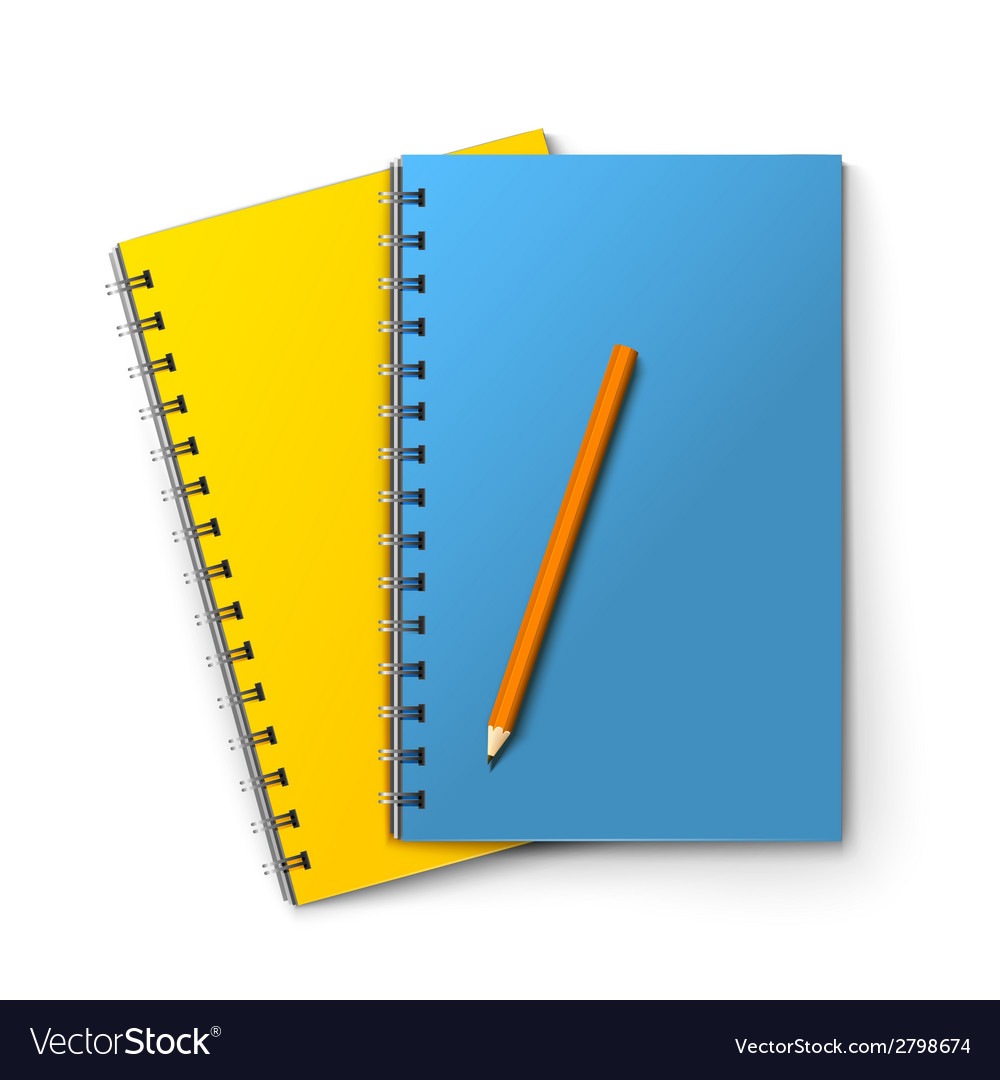 Notepads and pencil vector | Price: 1 Credit (USD $1)