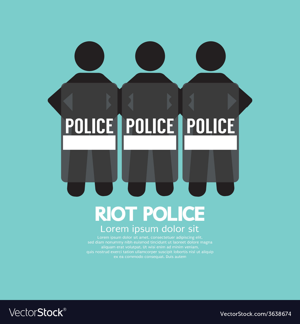 Riot police standing with shield vector | Price: 1 Credit (USD $1)