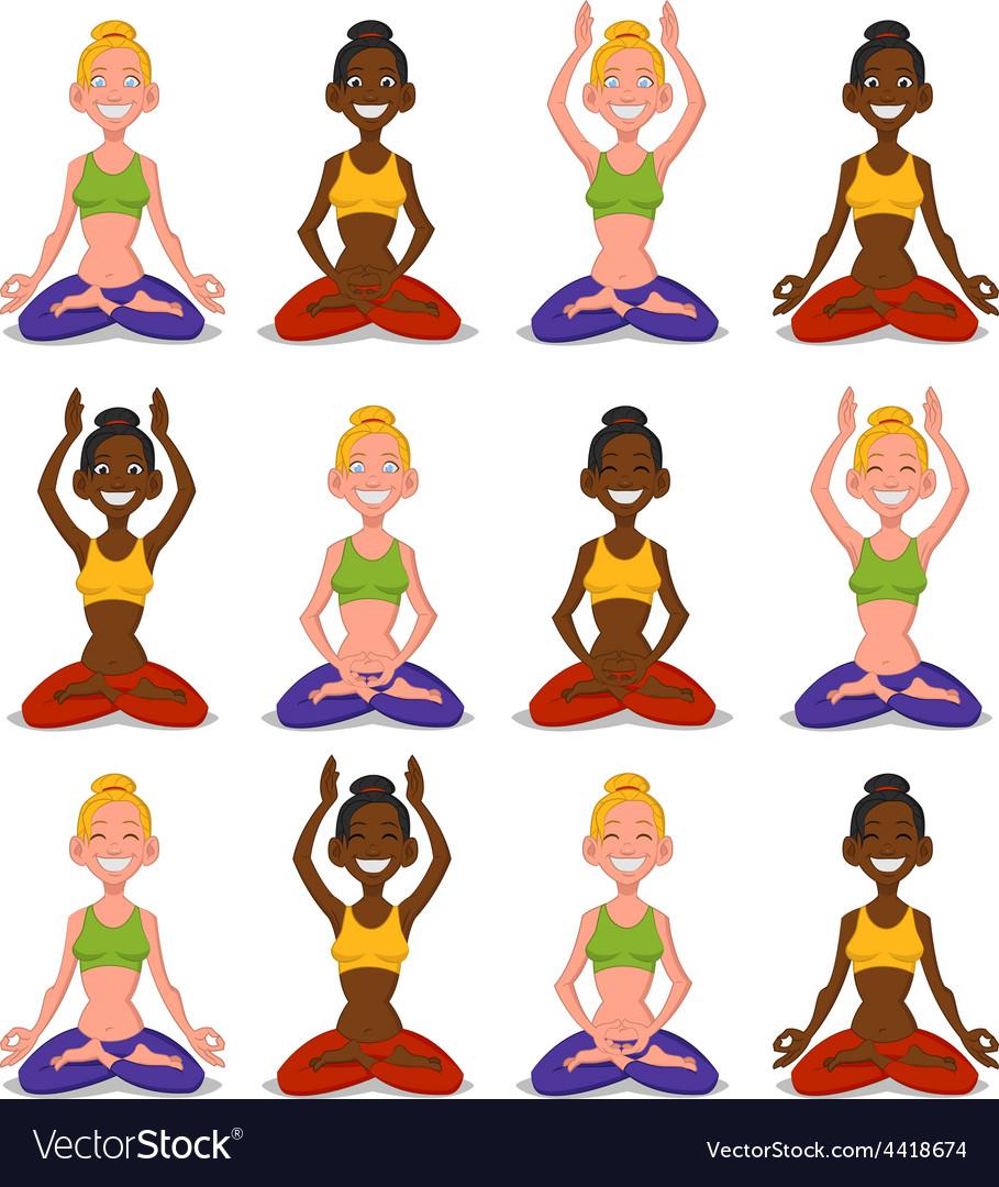 Set women yoga vector   Price: 1 Credit (USD $1)