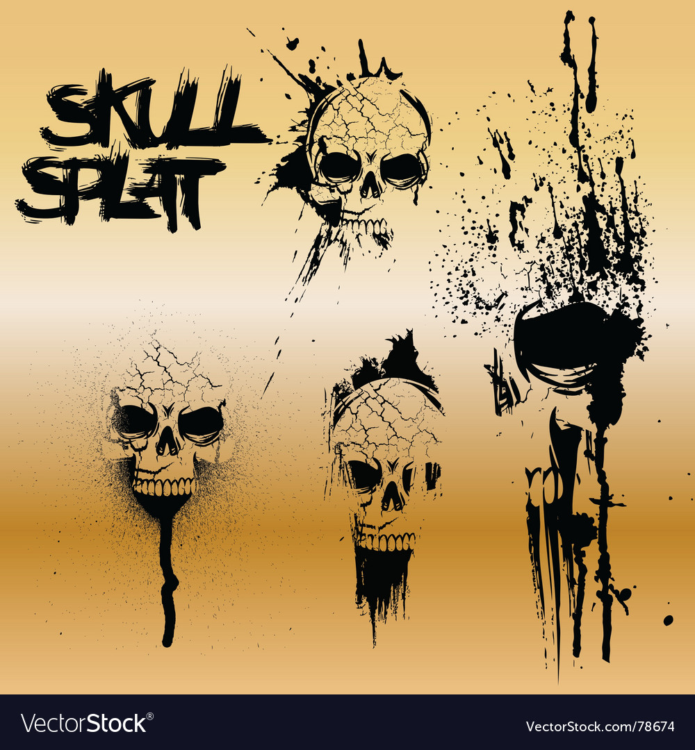 Skull splat vector | Price: 1 Credit (USD $1)