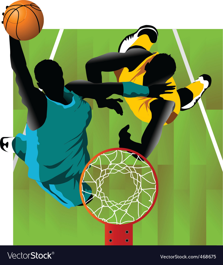Basket and ball vector | Price: 1 Credit (USD $1)